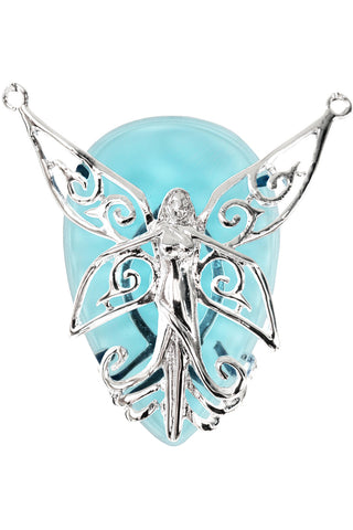 Anne Stokes Silver Fairy Poesy Pendant | Angel Clothing