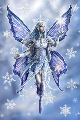 Anne Stokes Snowflake Fairy Yuletide Card, Gothic Fairy Christmas Card | Angel Clothing