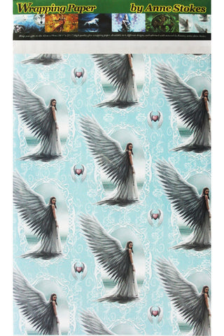 Anne Stokes Spirit Guide Angel Wrapping Paper | Angel Clothing