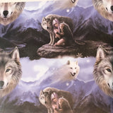 Anne Stokes The Protector Wolf Wrapping Paper, Gothic Gift Wrap 42cm x 59cm | Angel Clothing