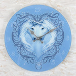 Anne Stokes Unicorn Heart Glass Clock | Angel Clothing