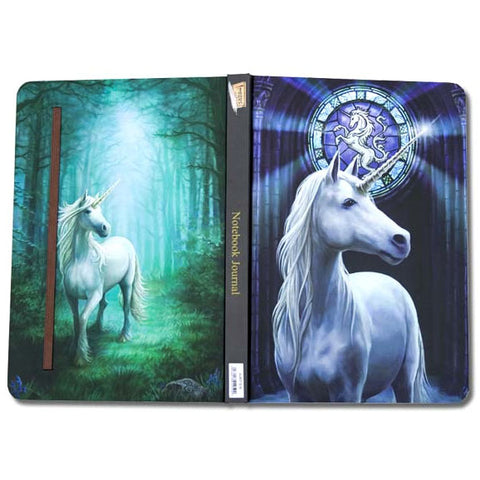 Anne Stokes Unicorn Notebook Journal, A5 Gothic Notebook - Angel Clothing