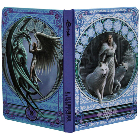 Anne Stokes Winter Guardian Wolf Notebook Journal, A5 Gothic Notebook | Angel Clothing