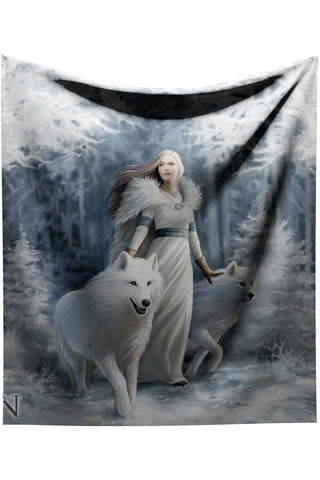 Anne Stokes Winter Guardians Throw Blanket | Angel Clothing