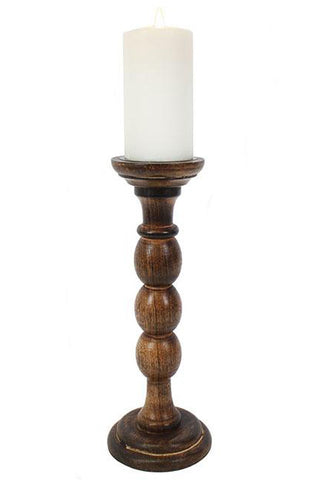 Antique wooden candle stand 30cm | Angel Clothing