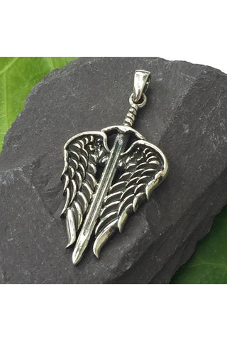 Seventh Sense Arch Angels Sword Pendant Silver | Angel Clothing
