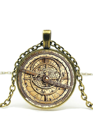 Astrolabe Pendant Necklace | Angel Clothing
