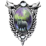 Anne Stokes Aura Wolf Cameo Necklace | Angel Clothing