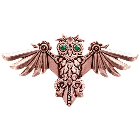 Aviamore Owl Brooch. Steampunk Engineerium by Anne Stokes EN12 - Angel Clothing
