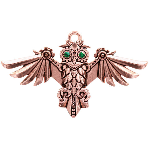 Aviamore Owl Pendant. Steampunk Engineerium by Anne Stokes EN10 - Angel Clothing