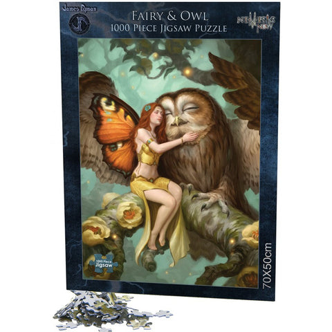Fairy and Owl Jigsaw by James Ryman 1000pcs | Angel Clothing