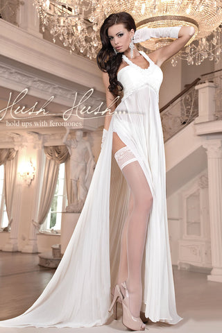 Ballerina 800 Hold Ups with Pheromones Ivory | Angel Clothing