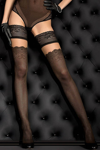 Ballerina Hold Ups Black - 386 | Angel Clothing