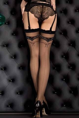 Ballerina Hold Ups Black - 387 | Angel Clothing