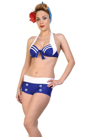 Banned - Nautical Sailor Bikini - Blue / White | Angel Clothing