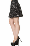 Banned 9 Lives Printed Sphinx Skater Skirt | Angel Clothing