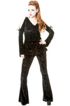 Banned Black Angel Velvet Embossed Flared Sleeves Top | Angel Clothing