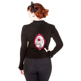 Banned Flocked Cameo Cardigan | Angel Clothing