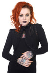 Banned - Black Lace Panel Bolero Gothic Shrug Jacket | Angel Clothing