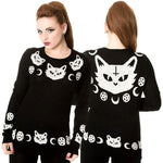 Banned Cat Knit Jumper | Angel Clothing