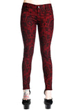 Banned Cross Cameo Burgundy Trousers | Angel Clothing