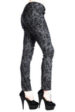 Banned Cross Cameo Gothic Trousers in Grey | Angel Clothing