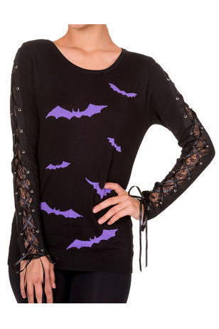 Banned Friction Jumper Black Purple | Angel Clothing
