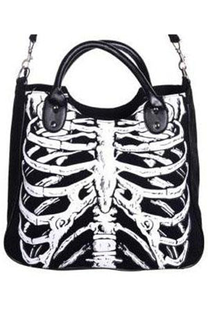Banned Glow in the Dark Ribcage Bag | Angel Clothing