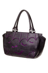 Banned Gothic Bats Handbag with Purple Embroidered Bat Design | Angel Clothing