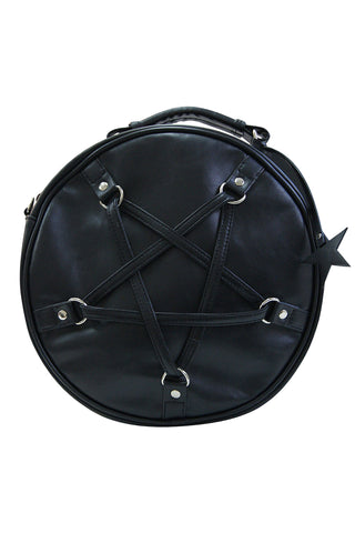 Banned Gothic Pentagram Shoulder Bag, Time Travel Handbag, Pentagram Handbag | Angel Clothing