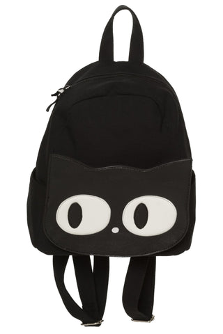 Banned Gothic Rucksack, Maxwell Backpack, Small Kitty Cat Face Rucksack | Angel Clothing