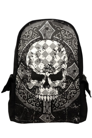 Banned Gothic Rucksack, Skull Cross Backpack | Angel Clothing