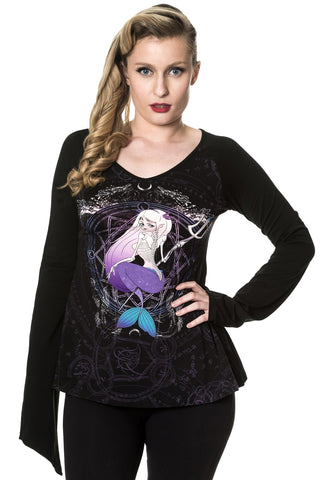 Banned Gothic Top, End of the Ocean Top, Gothic Occult Mermaid Top | Angel Clothing