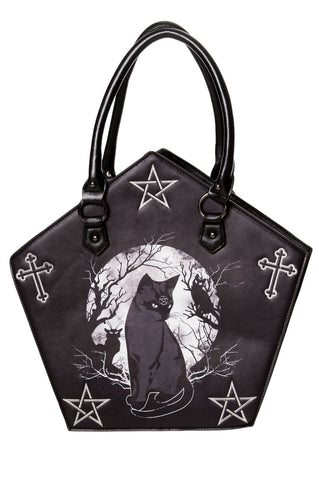 Banned Hecate Pentagon Bag, Gothic Cat Handbag | Angel Clothing