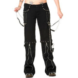 Banned Ladies Zip off Bondage Trousers/Shorts | Angel Clothing