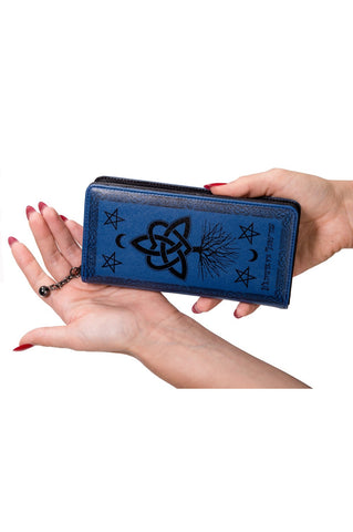 Banned Last Hope of Misery Wallet, Leather Look Goth Purse | Angel Clothing