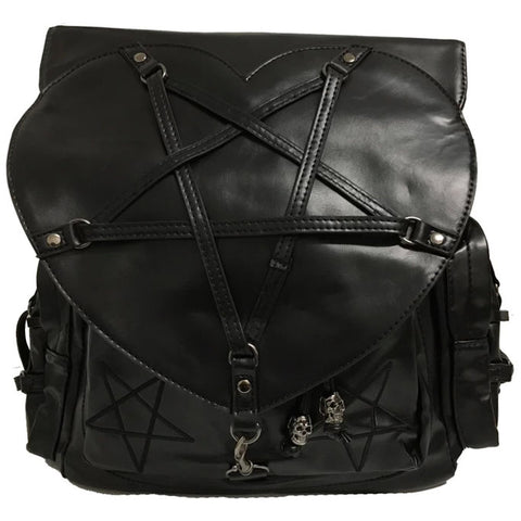 Banned Pentagram Heart Bag | Angel Clothing