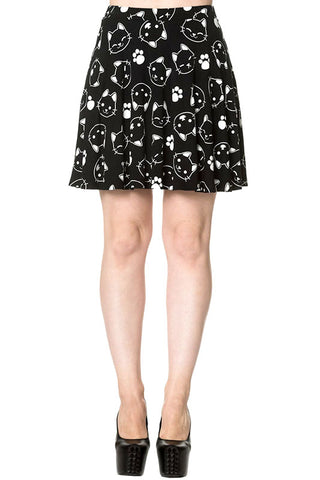 Banned Purrrrfect Kitty Skater Skirt | Angel Clothing