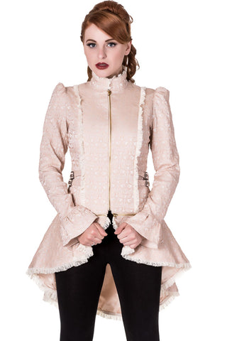 Banned Rise of Dawn Steampunk Jacket, Convertible Cream Corset Jacket, JBN628 - Angel Clothing