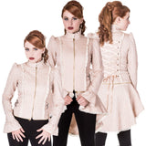 Banned Rise of Dawn Steampunk Jacket, Convertible Cream Corset Jacket, JBN628 | Angel Clothing