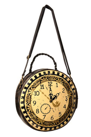 Banned - Round Clock Bag with Plait Handle | Angel Clothing