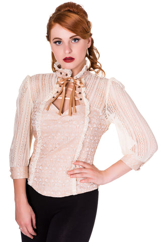 Banned Rise of Dawn Shirt Blouse Cream | Angel Clothing