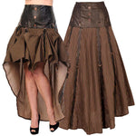 Banned Long Striped Steampunk Skirt | Angel Clothing