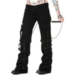 Banned Ladies Zip off Bondage Trousers/Shorts Black Chains | Angel Clothing