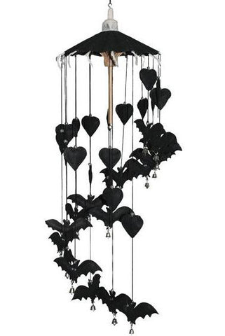 Gothic Black Bat Hanging Mobile | Angel Clothing