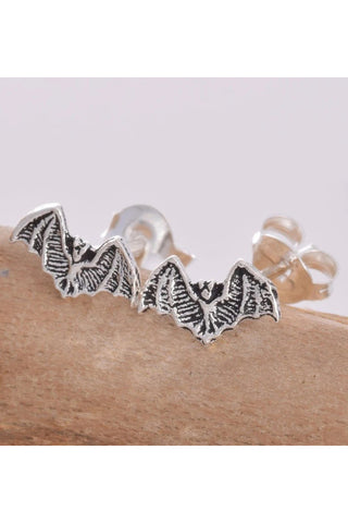 Seventh Sense Bat Stud Earrings Silver | Angel Clothing