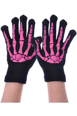 Poizen BGG Gloves Pink/Black | Angel Clothing