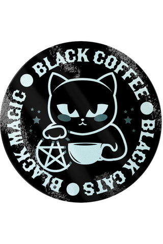 Black Cats, Black Magic, Black Coffee Glass Chopping Board | Angel Clothing