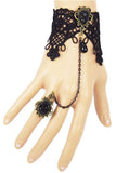 Black Lace and Sparkle Gothic Slave Bracelet | Angel Clothing