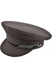 Black Military Peaked Cap | Angel Clothing